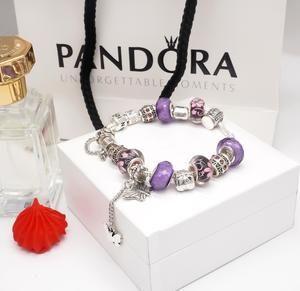 💖✨Pandora s925 Silver Purple series Bracelet With